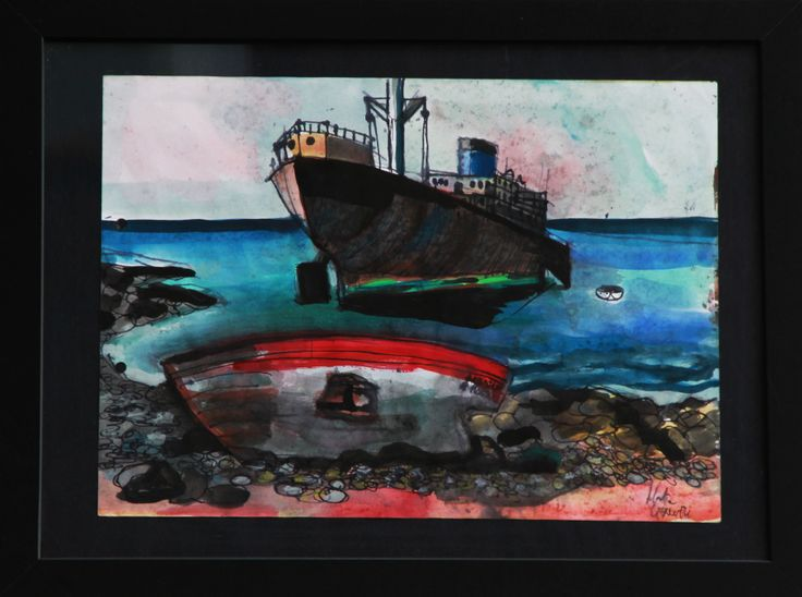 """""""an excursion into the heart of Lanzarotte""""  Signed by myself.  in blak frame. 40 Euro"""