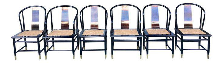 Henredon Asian Style Dining Chairs- Set of 6 on Chairish.com