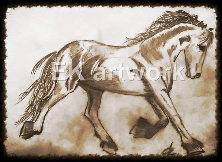 The horse as a feng shui symbol is often used in the Fame area of the Bagua (South), as well as the Career area (North). EK artwork