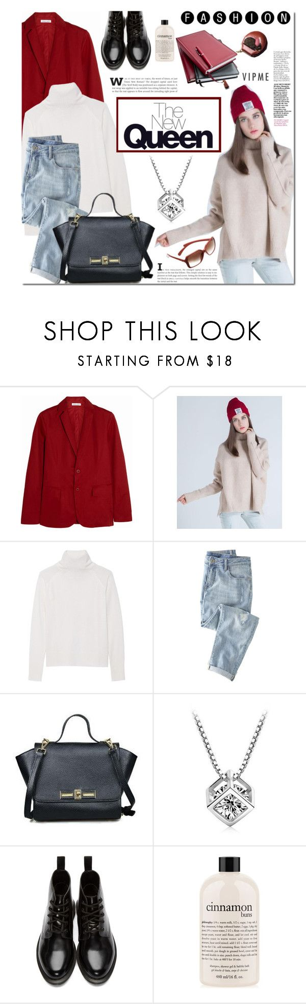 """""""Vipme"""" by mada-malureanu ❤ liked on Polyvore featuring Tomas Maier, Line, Wrap, Dr. Martens, philosophy, women's clothing, women, female, woman and misses"""