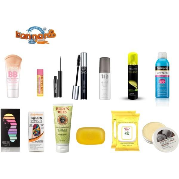 Bonnaroo 2013 beauty essentials by aquarelleblog, via Polyvore