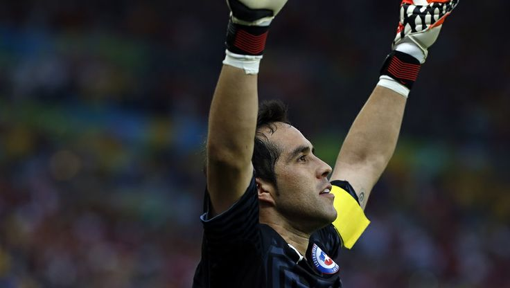 Such a shame we will no longer see the awesomeness of Claudio Bravo in the World Cup 2014. Well played, Chile! #FIFA