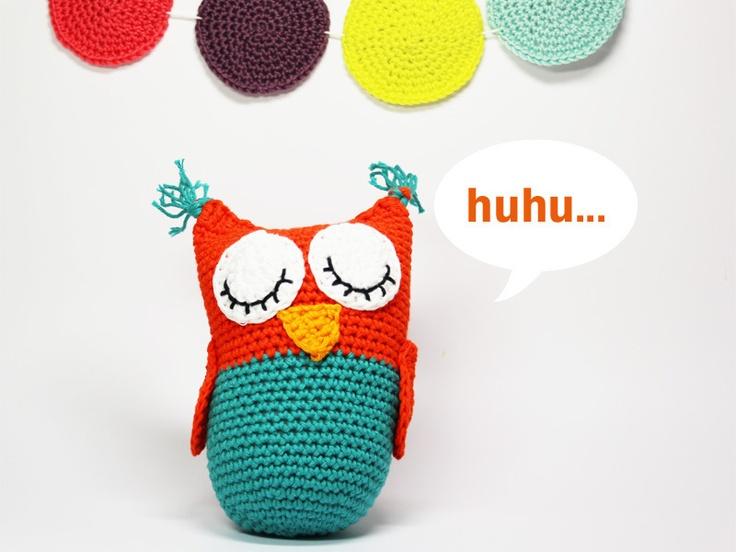 Häkeleule // Crochet cuddly owl by Lemonata via DaWanda.com