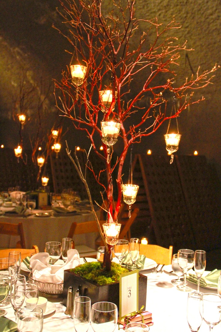 Images about manzanita branch centerpiece on