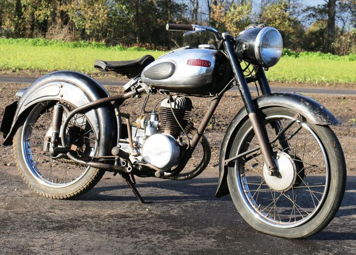 Catawiki online auction house: Sparta Villiers 200cc 1953 registration plate PR-39-50