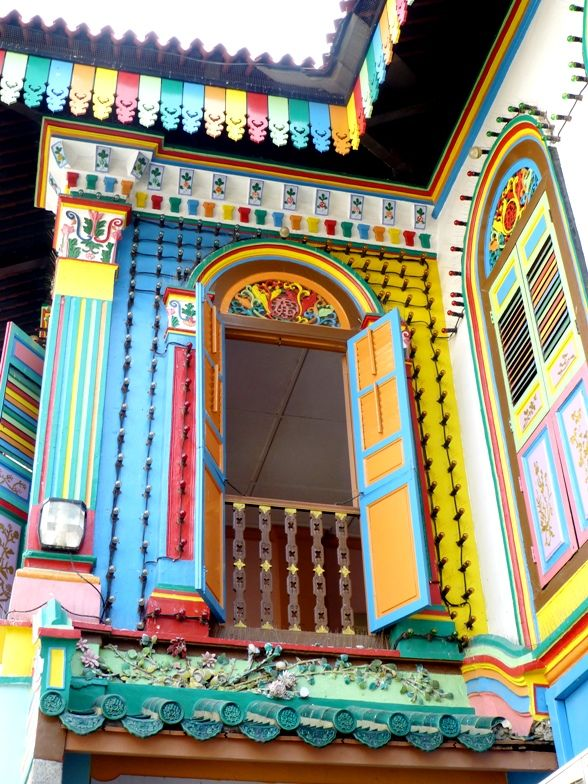 The most colourful house in Little India, Singapore. Beautiful!