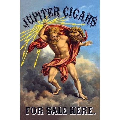 Buyenlarge 'Jupiter Cigars for Sale Here' by F. Heppenheimer & Co. Graphic Art