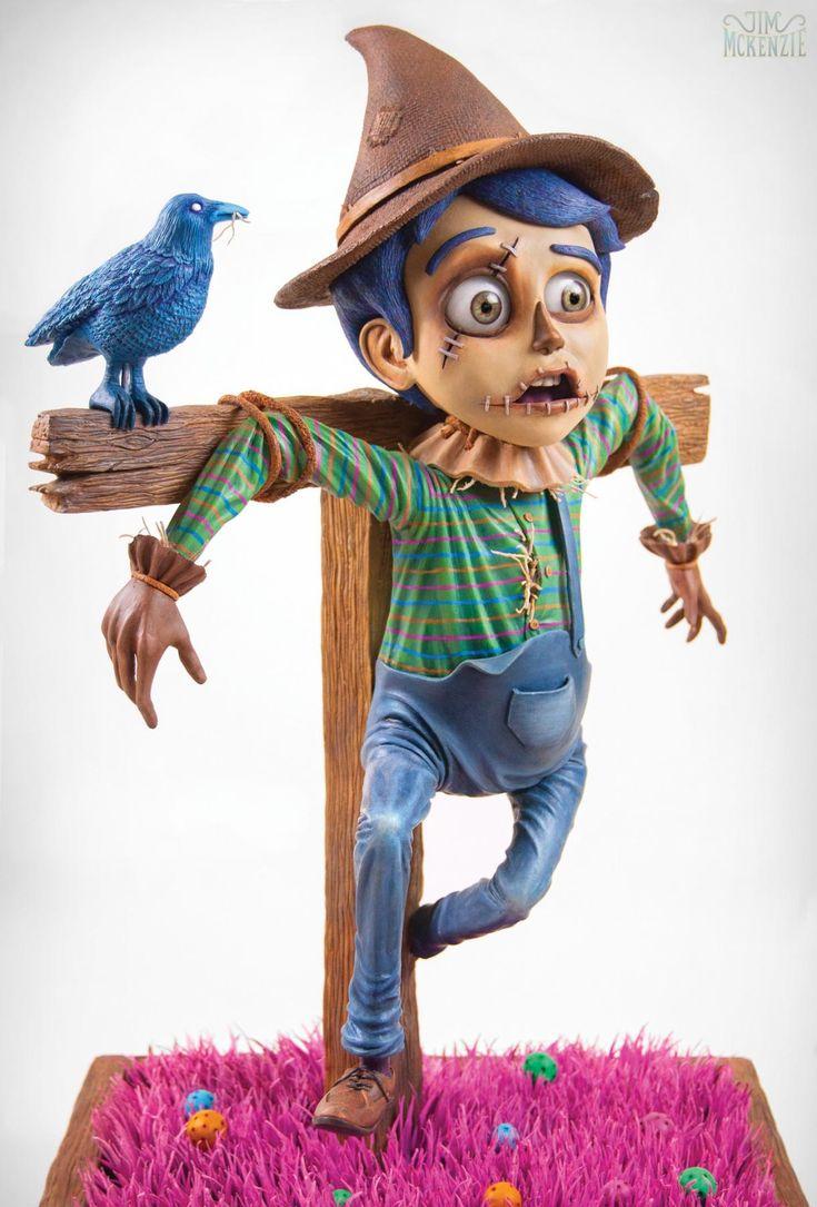 The Scarecrow - Epoxy Clay Sculpture by Jim Mckenzie