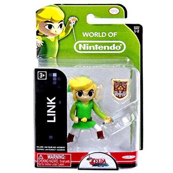 This is a Link action figure from the World of Nintendo line of figures. Fans of Zelda never get tired of Link action figures. This Link action figure is 3 inches tall and totally awesome. Comes with