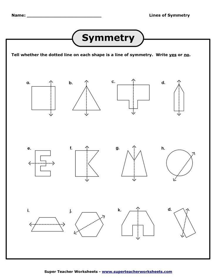 lines of symmetry worksheets | Lines of Symmetry Worksheet - PDF