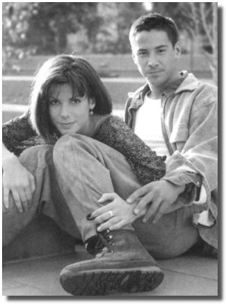 "Keanu Reeves and Sandra Bullock in Speed. I also love them together in the movie ""The Lake House""."