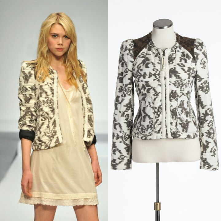 You can pair this printed jacket with a dress or jeans. Size 4. $45.00 www.closetcollabo.ca/product/wilfred-jacket/ #wilfred #aritzia #jacket #print