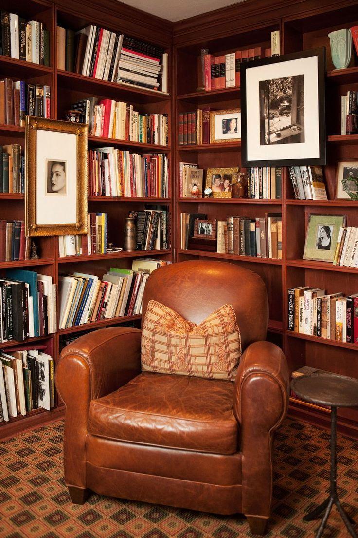 new years resolution - hang art on a bookshelf.    MRK { Home } Style   The Glamourai