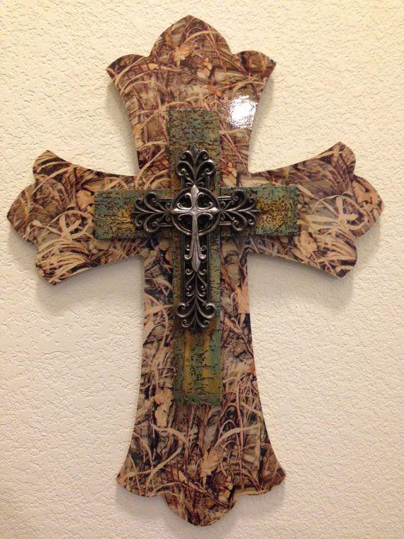 Custom Decorative Cross  Max 4 Camouflage Print by CustomCamoDecor, $60.00