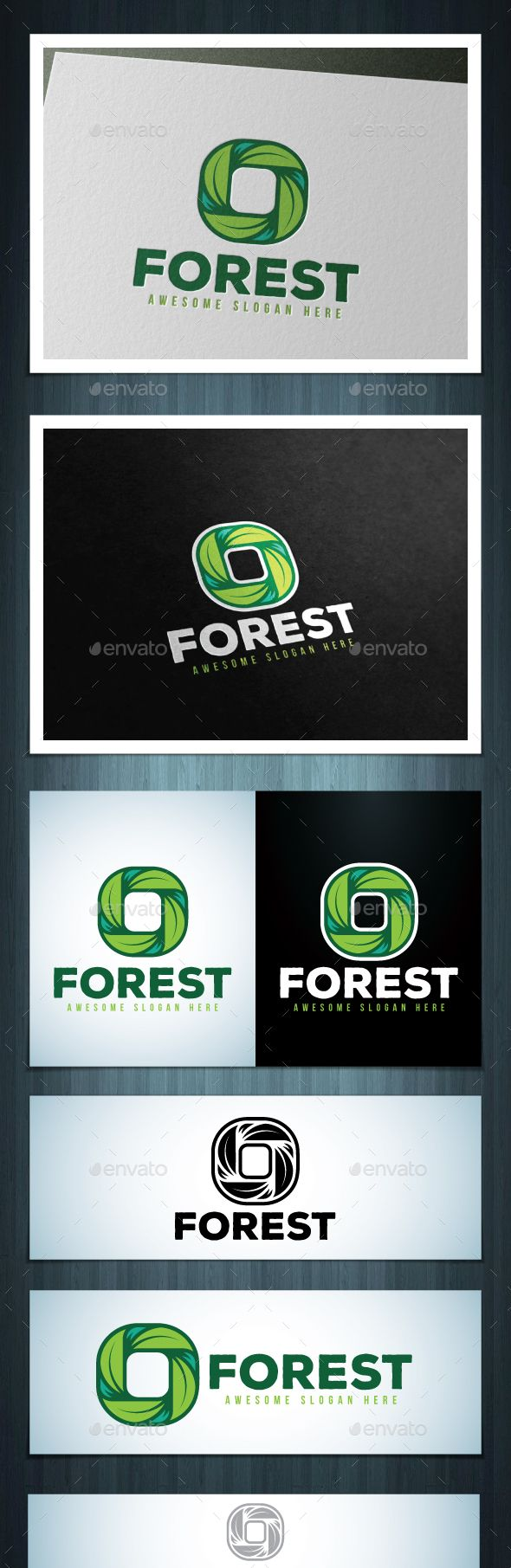 Forest Logo — Photoshop PSD #progress #eco • Available here → https://graphicriver.net/item/forest-logo/17327607?ref=pxcr