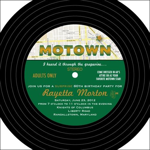 Custom Printables: Motown party invitation