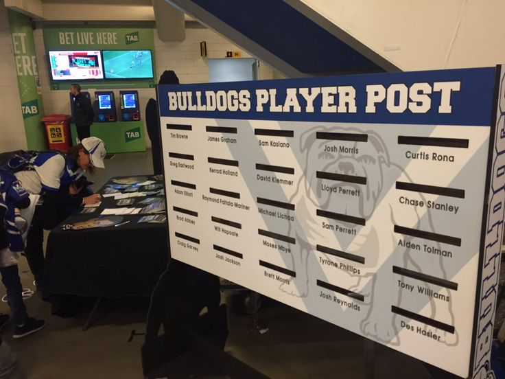 DROP by Aisle 125 & give your favourite @NRL_Bulldogs player a letter…