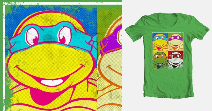 Ninja Pop Turtles | t-shirt illustration by Ville Korpela