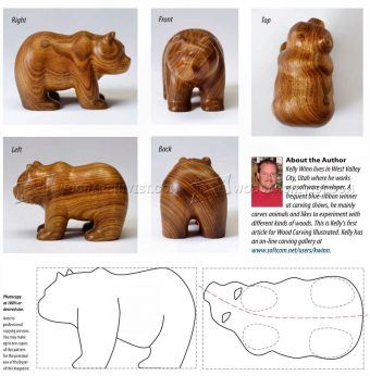#1879 Carving Bear - Wood Carving Patterns - Wood Carving