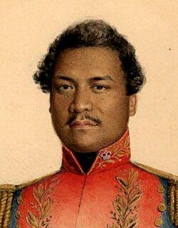 Kamehameha III(bornKauikeaouli) (1813–1854), King of  Hawai'i from 1825 to 1854. His full Hawaiian name wasKeaweawe'ula Kīwala'ō Kauikeaouli Kaleiopapa, it was then lengthened to Keaweawe'ula Kīwala'ō Kauikeaouli Kaleiopapa Kalani Waiakua Kalanikau Iokikilo Kīwala'ō i ke kapu Kamehamehawhen he ascended the throne.