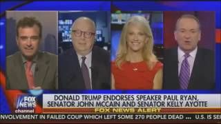 Hannity 8/6/16 - Mike Huckabee hosts Sean Hannity's show - Donald Trump endorses Paul Ryan, Hillary Clinton's new Emails explanation, Sean Hannity's advice to Donald Trump's campaign, Donald Trump Rally in Green Bay Wisconsin  Donald Trump endorsed House Speaker Paul Ryan and Arizona Sen. John McCain on Friday, moving to mend an intra-party rift that has put the Republican presidential nominee at odds with its highest-ranking elected official.  Trump's endorsements came at a rally in Green…