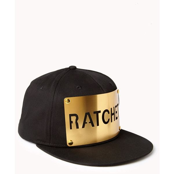 Cool Girl Ratchet Flat-Billed Cap found on Polyvore featuring polyvore,  fashion, accessories
