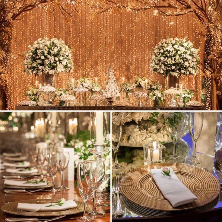 Para a DECORAÇÃO do casamento de Mayara e Bruno, @andrepedrotti usou flores brancas e detalhes em dourado! A parede de LUZINHAS era um sonho da noiva, e serviu de fundo para a mesa de doces!🌟🌟🌟Com assessoria da @sofisticariassessoria, a festa aconteceu no @buffetfranca! E os detalhes estão no site: www.constancezahn.com💻{📷@annaquast e @rickyarruda } #wedding #casamento #decoraçaodecasamento #CZSaoPaulo