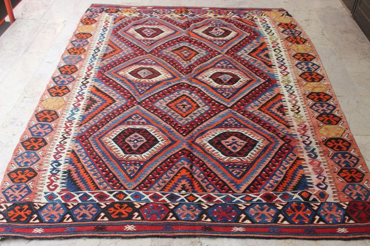 Turkish kilim rug,Livingroom kilim rug,Decorative kilim,Antique  kilim rug,Colorful kilim,Vintage kilim rug,92 x 72 inches,234 x 182 cm by ntfarts on Etsy https://www.etsy.com/listing/251188366/turkish-kilim-ruglivingroom-kilim