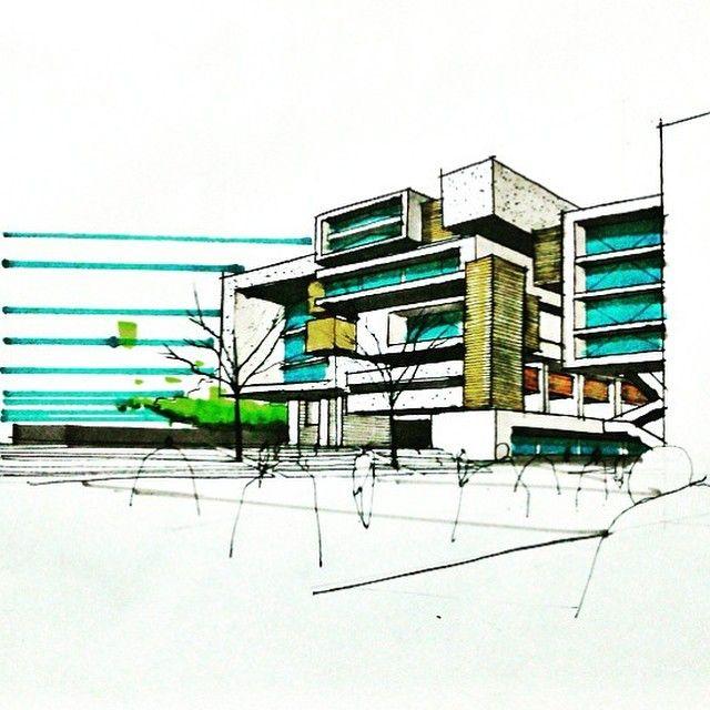 By @s.stetina #sketch_arq #architecture #design #ideas #architecturestudent #アーキテクチャ #arquitectura #Architektur #sketch #instadaily #drawing #modern #art #modern #follow #architec #architecturesketch #architectureporn