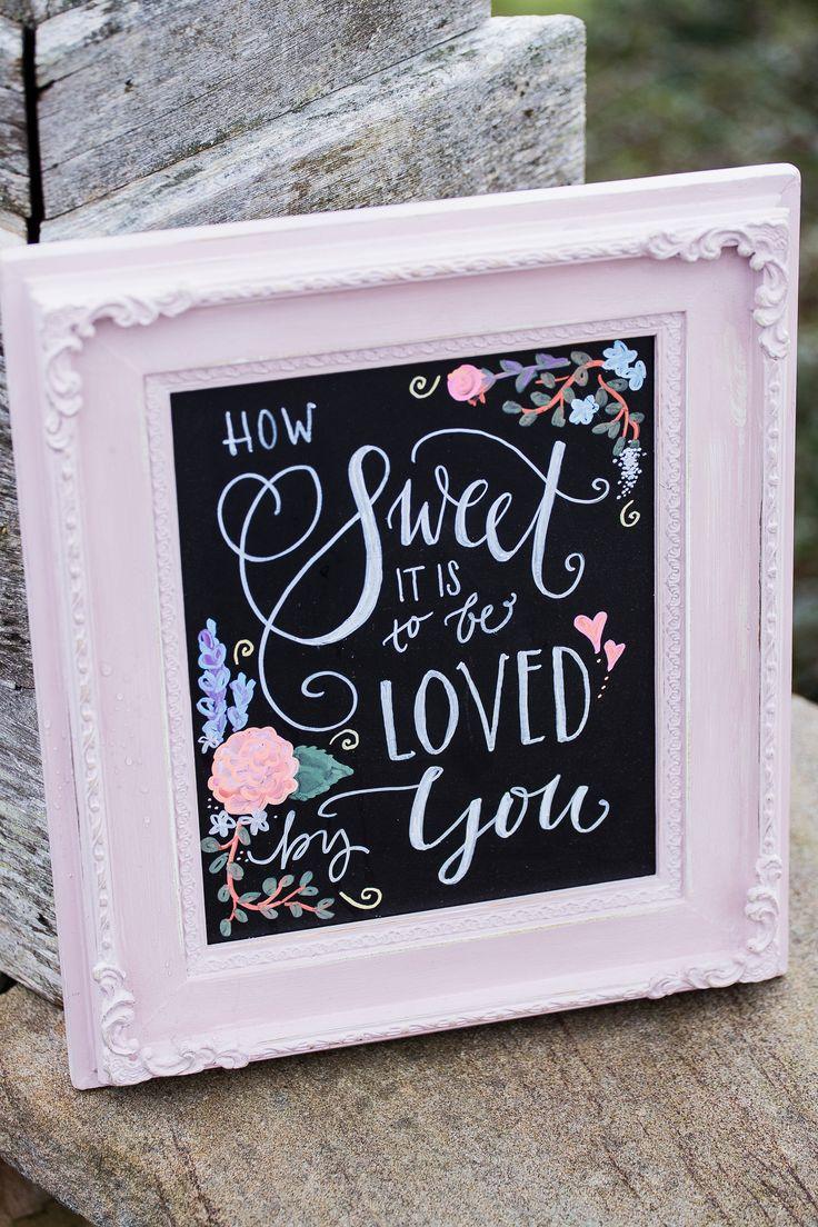 sweet love wedding sign