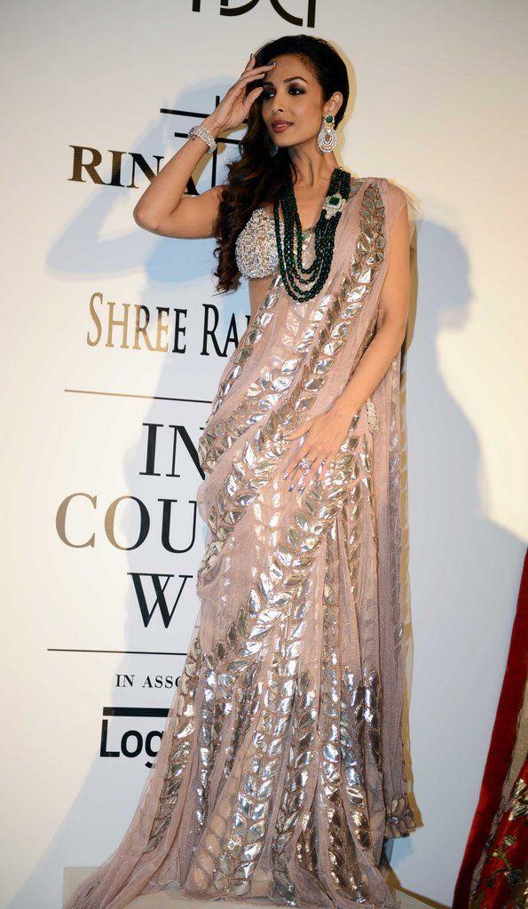 Malaika Arora Khan for Rina Dhaka at the India Couture Week, 2014.