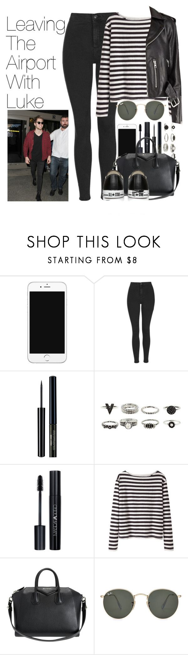 """Leaving the Airport with Luke"" by onedirectionimagineoutfits99 ❤ liked on Polyvore featuring Topshop, Diego Dalla Palma, Wood Wood, Givenchy, Ray-Ban and Converse"