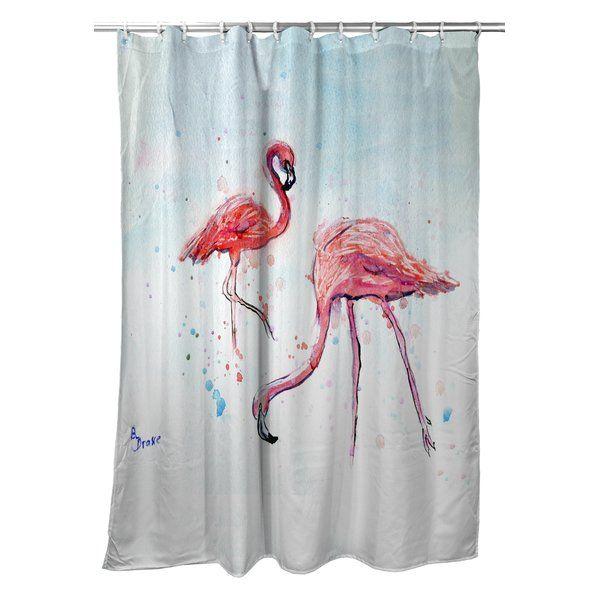 Tyler Flamingos Single Shower Curtain Flamingo Shower Curtain