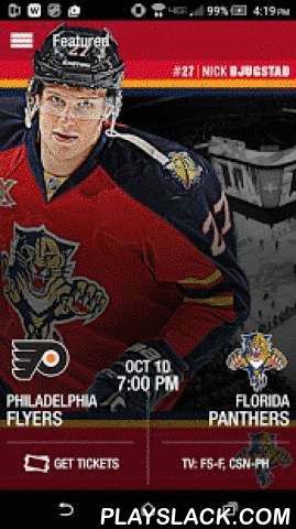 Florida Panthers Official App  Android App - playslack.com ,  This official app of the Florida Panthers brings fans closer to the team than ever before. Get live game coverage, player interviews, game previews and recaps, postgame video highlights, enhanced stats, customized game alerts, player profiles and much more! Follow the Panthers all season long on your mobile device!Panthers App Features Include:• Live Game Coverage with Near Real-Time Shift Changes, Player Stats, Boxscore and…