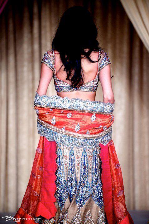 orange silver lengha #lengha #indian #indian_wear