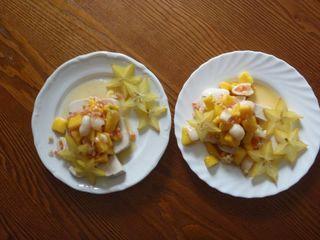 Galaretka mleczno-migdałowa z owocami, czyli zachcianki ciążowe część kolejna :)