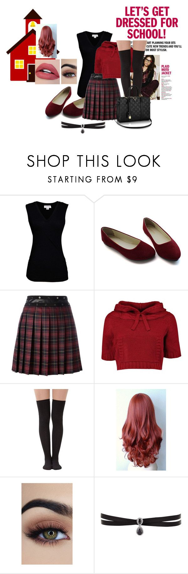 """""""School Outfit #1"""" by kumikoxx ❤ liked on Polyvore featuring Velvet by Graham & Spencer, Giamba and Fallon"""