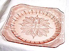 Depression Glass - Jeannette - Adam - Pink Dinner Plate 9""