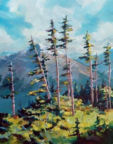 Randy Hayashi - Trees from Mount Lady MacDonald