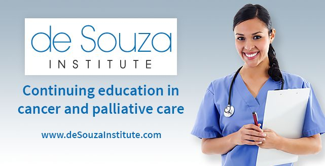 Are you a CANO/ACIO member and writing the Canadian Nurses Association (CNA-AIIC) Oncology or Hospice Palliative Care Exam in the Fall? You are eligible for special pricing on the de Souza Institute study groups to aid in your preparations! The study groups utilize the CNA exam study guide blueprint and include an in-person or OTN workshop. Learn more by pressing the visit button.  http://www.desouzainstitute.com/