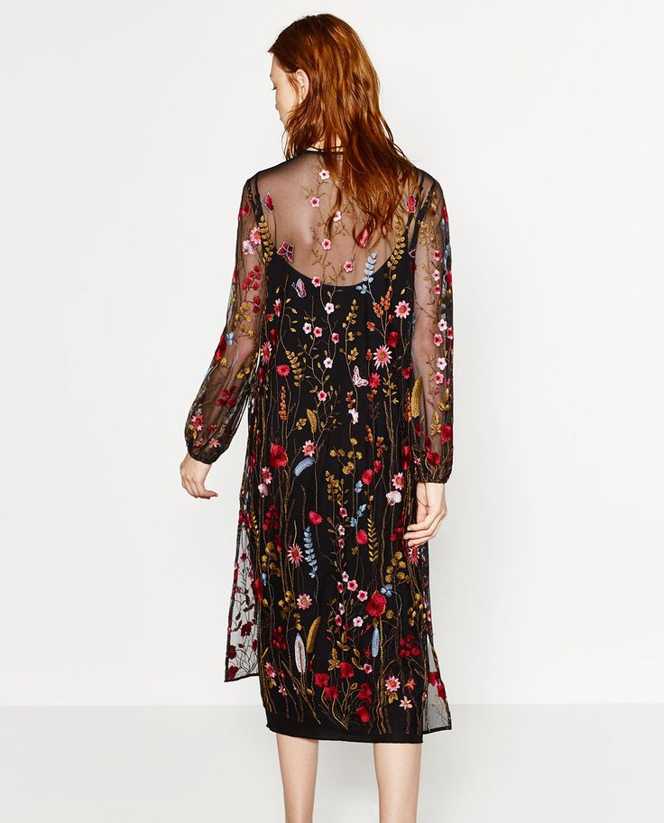 LONG EMBROIDERED DRESS-DRESSES-WOMAN | ZARA United States