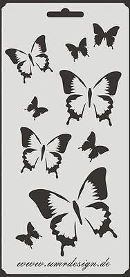 Scrapbooking Schablone S-114  Schmetterlinge ~ Stencil ~ UMR-Design