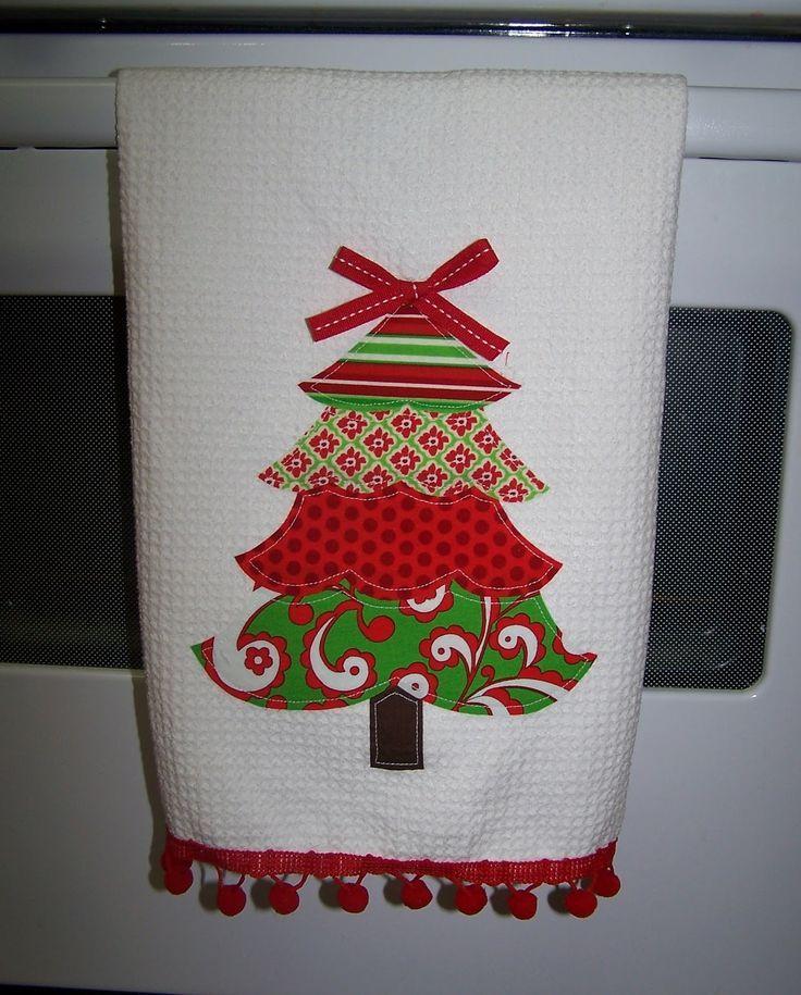 Applique Christmas Towel: