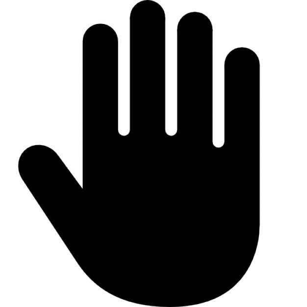 Hd Black Stop Hand Outline Silhouette Icon Symbol Png Hand Outline Outline Symbols