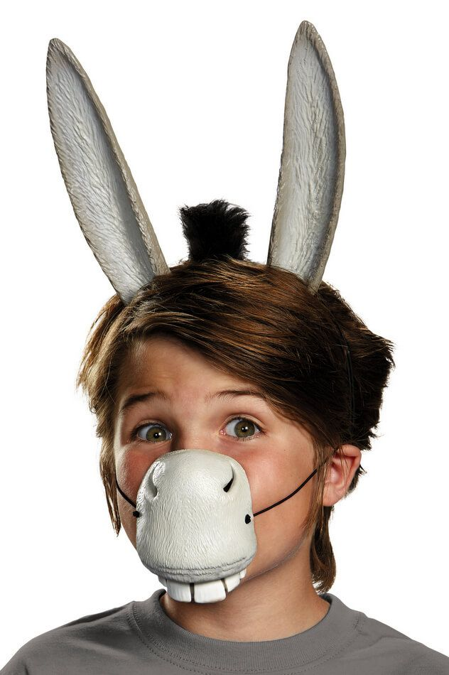 Adult Shrek Donkey Ears and Nose Costume Kit - Candy Apple Costumes - See All Kids' Costumes
