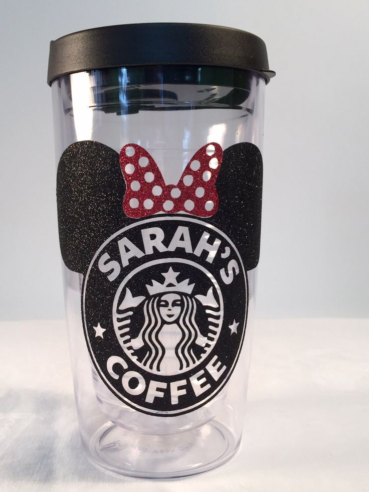 Black & Red Starbucks * Minnie Mouse * Latte  or coffee 16 oz.  or 24 oz. Personalized Glitter Tumbler for Hot or Cold Beverages. by TheGlitterSquad on Etsy https://www.etsy.com/listing/214826860/black-red-starbucks-minnie-mouse-latte