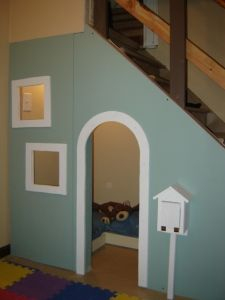 playhouse under the stairs- for the basement in the new house: Basements Playrooms, Spaces, Ideas, New Houses, Basements Stairs, Reading Nooks, Plays Area, Under Stairs Playhouses, Kid