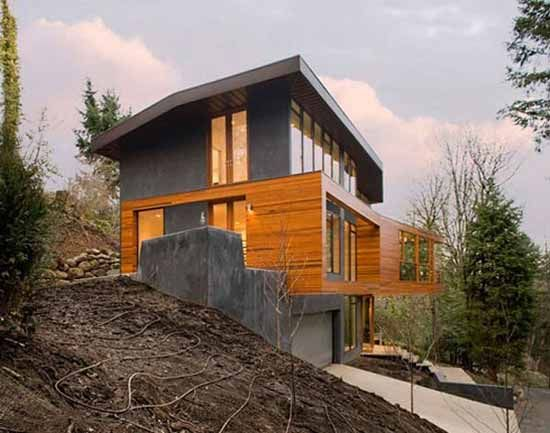 luxury hillside house design in twilight film did you remember the house where edward cullen and his family live in the twilight film this hills - Modern Hillside Homes