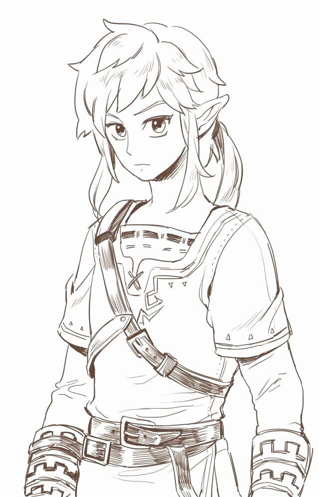 24 Legend Of Zelda Coloring Book In 2020 Character Sketch Legend Of Zelda Zelda Art