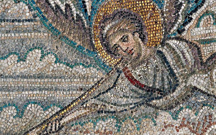 Basilica di San Demetrio, Tessalonica, Grecia. Il mosaico della fine del V secolo.